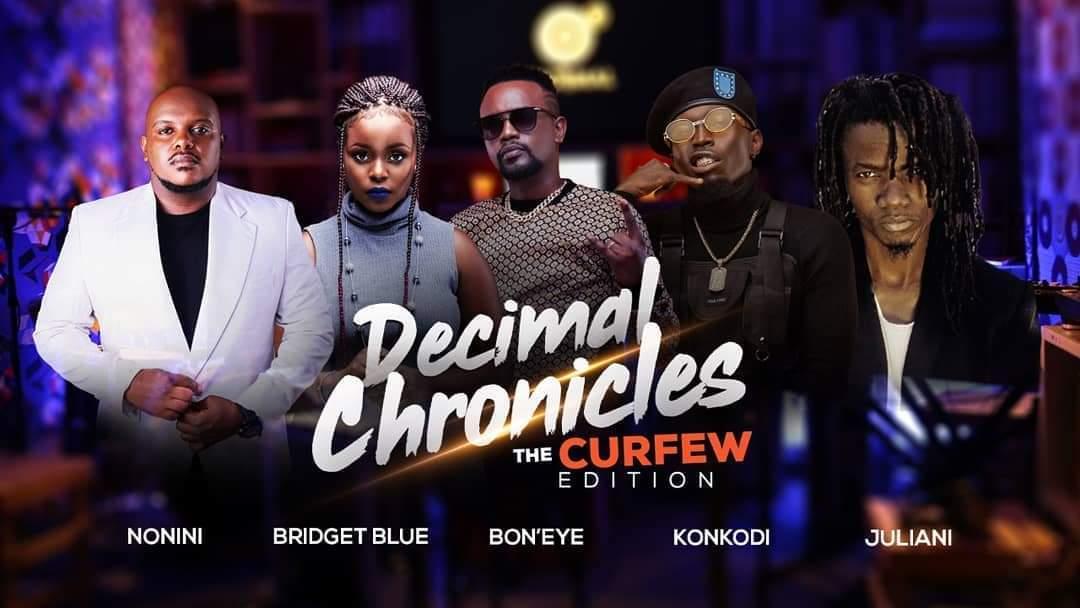 11PM Tonight (Decimal Chronicles) LIVE - The Curfew Edition ft @Noninimgenge Bridget Blue @JulianiKenya, @konkodi & @BoneyePunit Hosted by @decimalKE #TWT #TeamWagengeTrue youtu.be/c_p9cgAvtH4