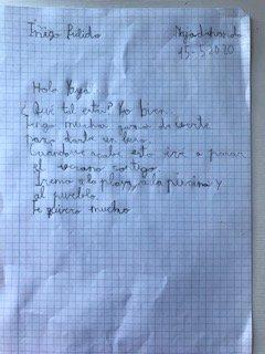 Iñigo de 2ºC también ha querido mandarnos su carta por el día de la familia y el de San Isidro 😊 Anímate a mandarnos tu dibujo, vídeo o foto al siguiente email 👉yomequedoencasa@colegiocaude.com #SomosCaude #Quedatencasa #TodoVaASalirBien #DiaInternacionalDeLaFamilia #SanIsidro https://t.co/hCpMoFJMWX