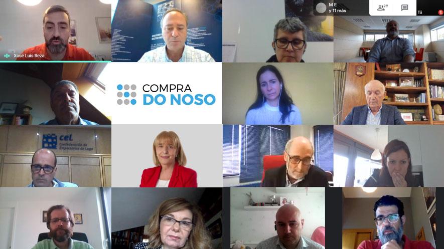 Hoxe presentouse COMPRA DO NOSO, iniciativa impulsada por 22 entidades empresariais (confederacións, clústeres, cámaras,etc.)que nace co fin de fomentar o consumo de #produtos e #servizos galegos e apoiar a reactivación da nosa economía!! Más info: https://bit.ly/2Tpr26zpic.twitter.com/4JkE3cZICV