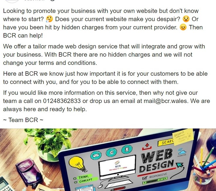 Here at BCR we are really excited today to be launching our new Web Design and Development services. #wemakeitPOSsible #Webdesign <br>http://pic.twitter.com/9CdWd4vktJ