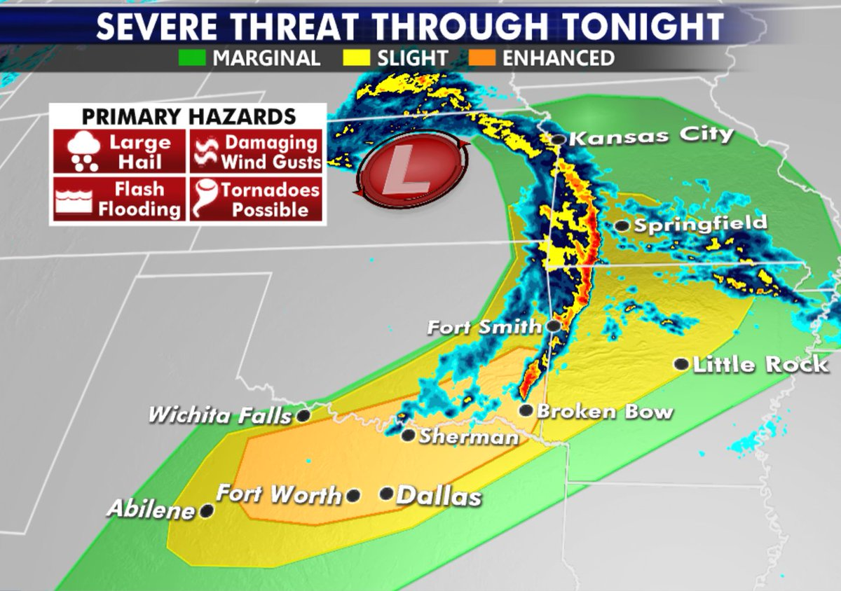 Strong storms including tornadoes possible through this afternoon. #severestorms #weather