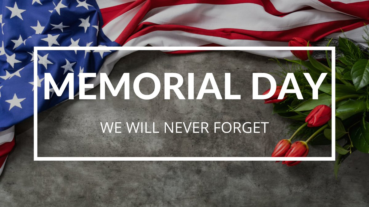 As we celebrate #MemorialDay today, we honor all the men and women who have given their lives to serve and protect this country. Their tremendous sacrifices for our freedom will never be forgotten.
