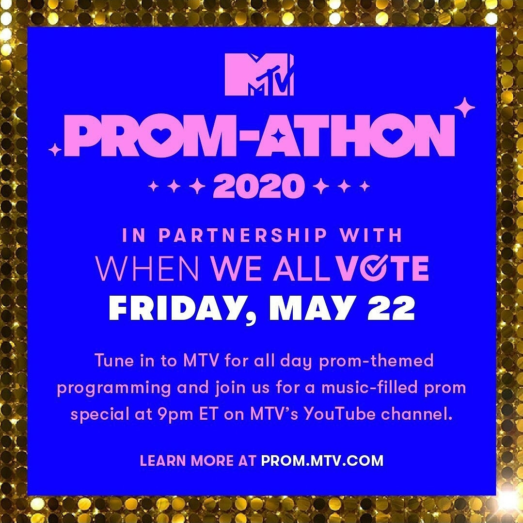 @WhenWeAllVote and @MTV #PromChallenge!Our hard work registering students to vote paid off. On top of the $5,000 we will receive,  we got an invite to MTVvirtual Prom-athon!!The best part? Anyone can come party with us.Get your virtual prom ticket