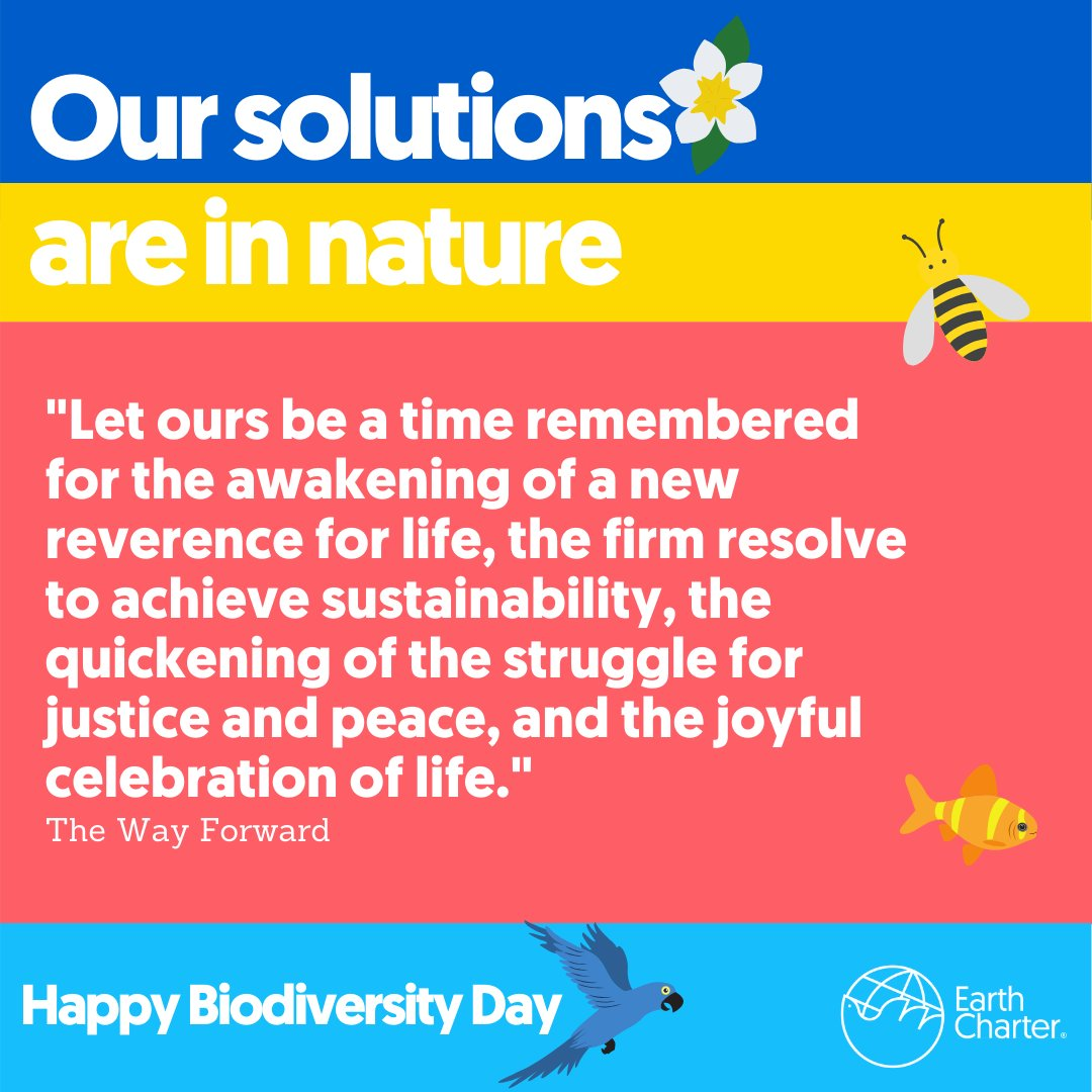 Happy #BiodiversityDay2020  Nature is calling to action and we know we have to act. Solutions are there, in nature. So let's get to work! #earthcharter2020pic.twitter.com/xW24khntoe