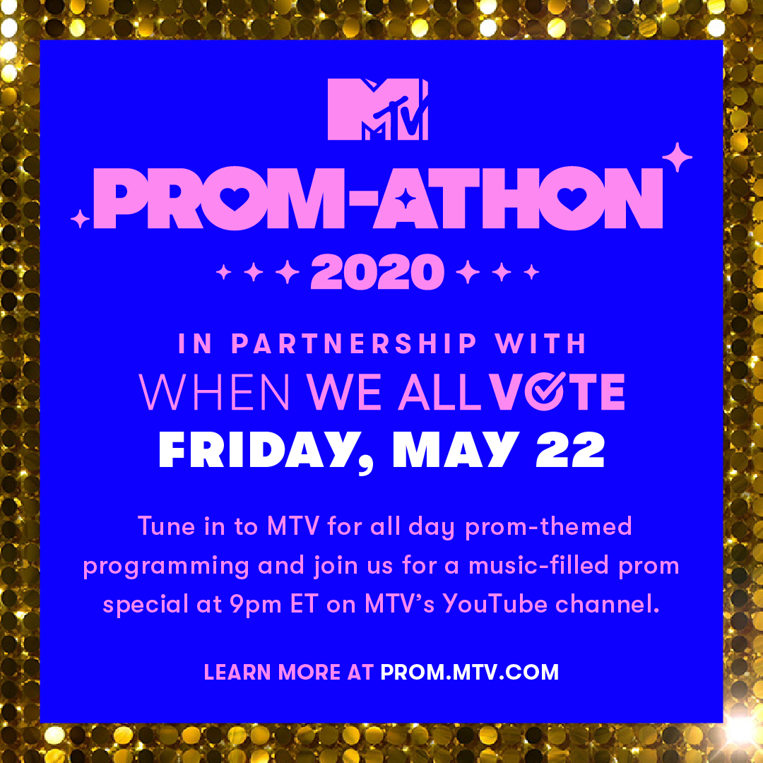 Last week, @MichelleObama surprised @MTV @WhenWeAllVote #PromChallenge winners to announce #MTVPromathon, a night to celebrate the Class of 2020 and connect the ritual of prom to the ritual of voting! Learn more at  and tune-in all day on MTV!