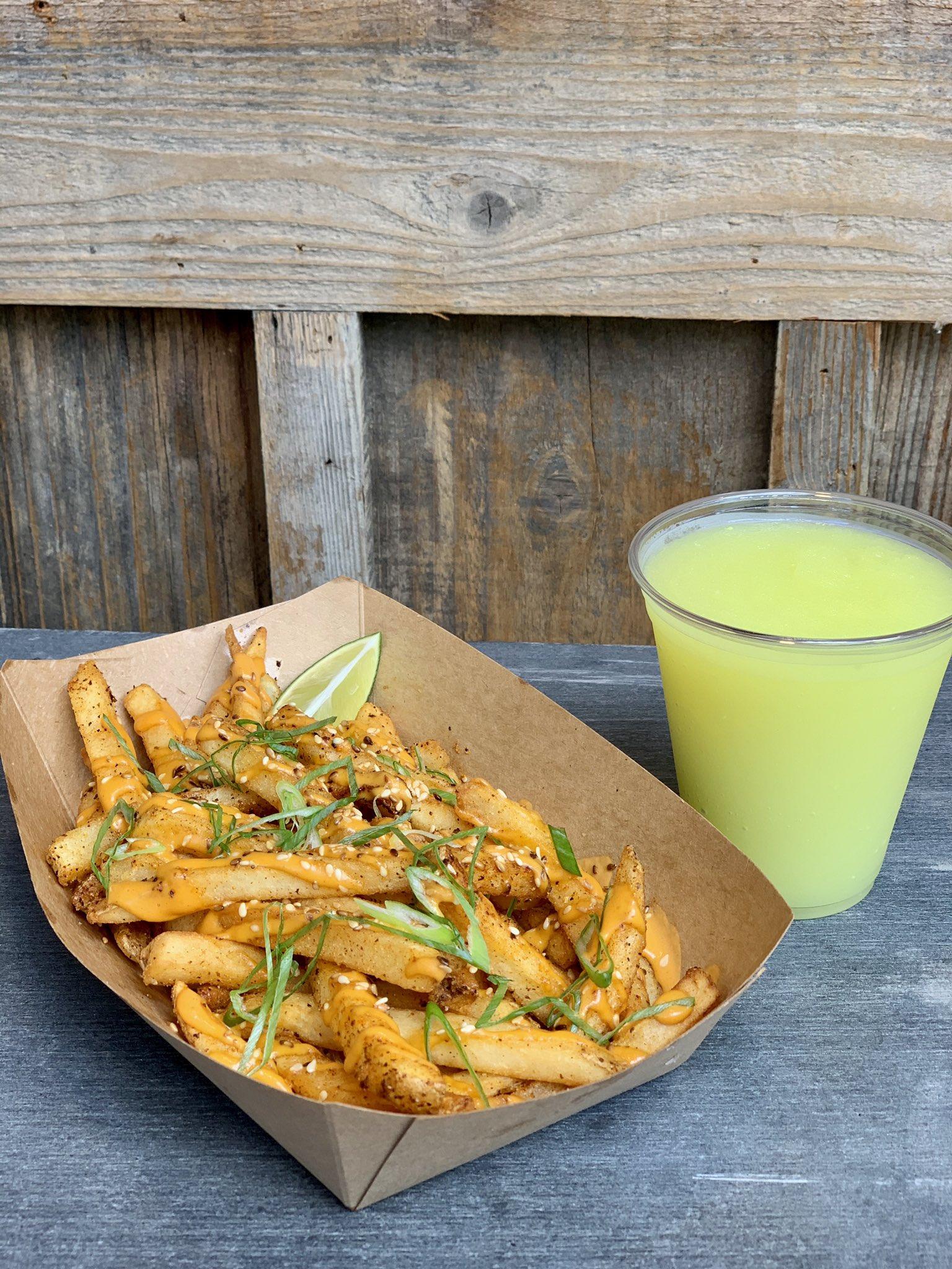 Togarashi Fries and Friezling made w/ Dole Whip® Lime