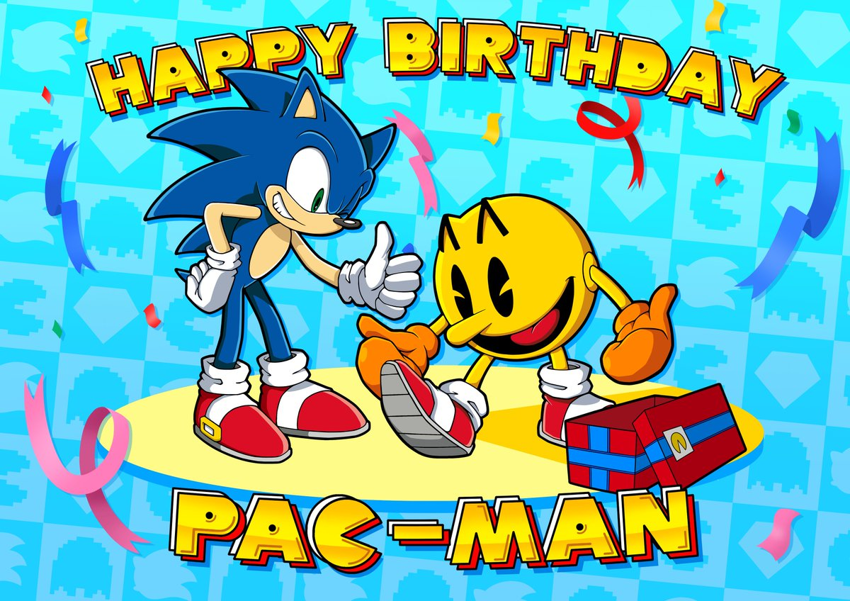 Sonic The Hedgehog On Twitter Happy 40th Birthday Officialpacman Here S To Going Fast And Catching Ghosts