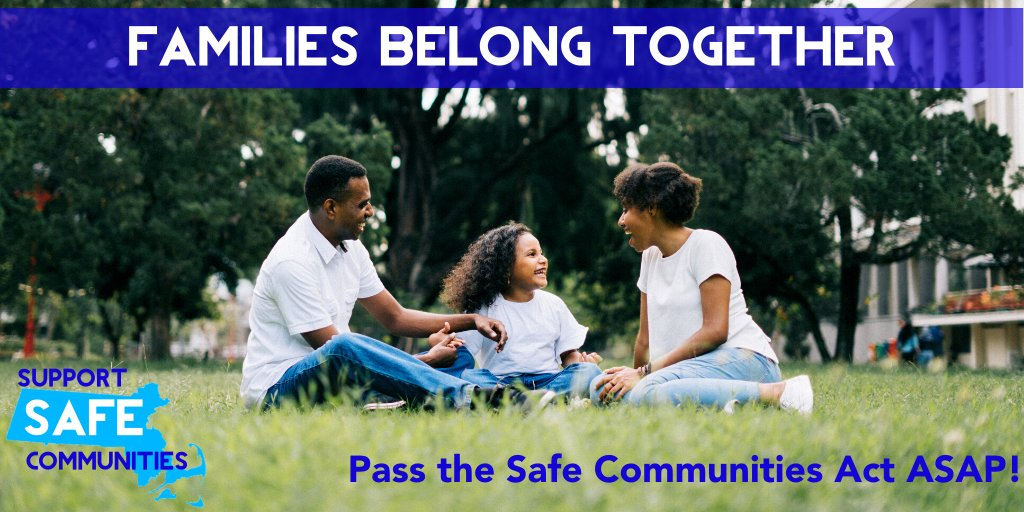 The #SafeCommunitiesAct campaign is more urgent than ever. Contact your legislators TODAY & tell them: Immigrant families' safety can't wait. Pass this bill ASAP! #COVID19 #mapoli https://t.co/xng796ieTG https://t.co/8TnPPiUEvF