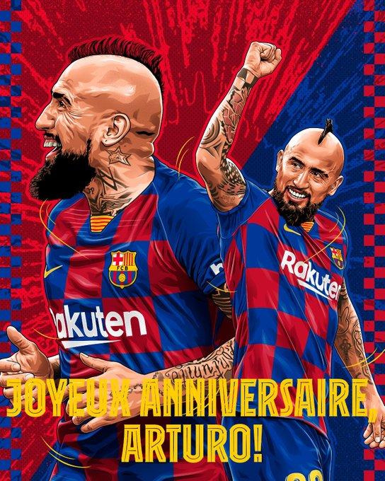 Joyeux anniversaire, Arturo Vidal!  Happy Birthday, Arturo Vidal!