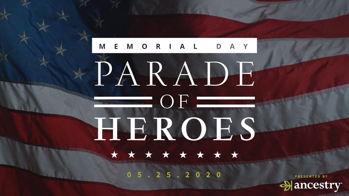 Don't forget to RSVP to to our Facebook Event for our Memorial Day virtual Parade of Heroes. Join us in honoring the veterans in our families who sacrificed so much for our country.  #RememberAtHome