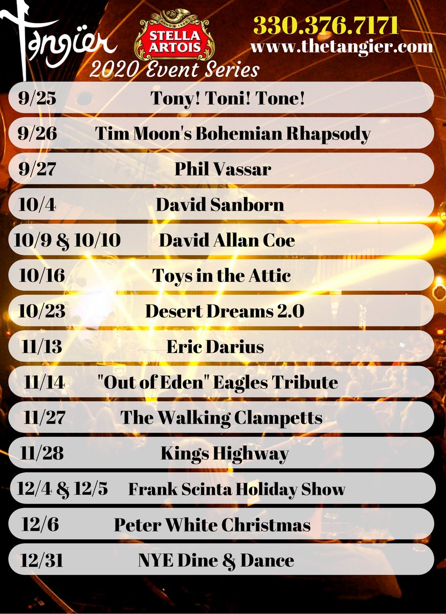 Peter White Christmas Shows Schedule 2020 The Tangier (@TheAkronTangier) | Twitter