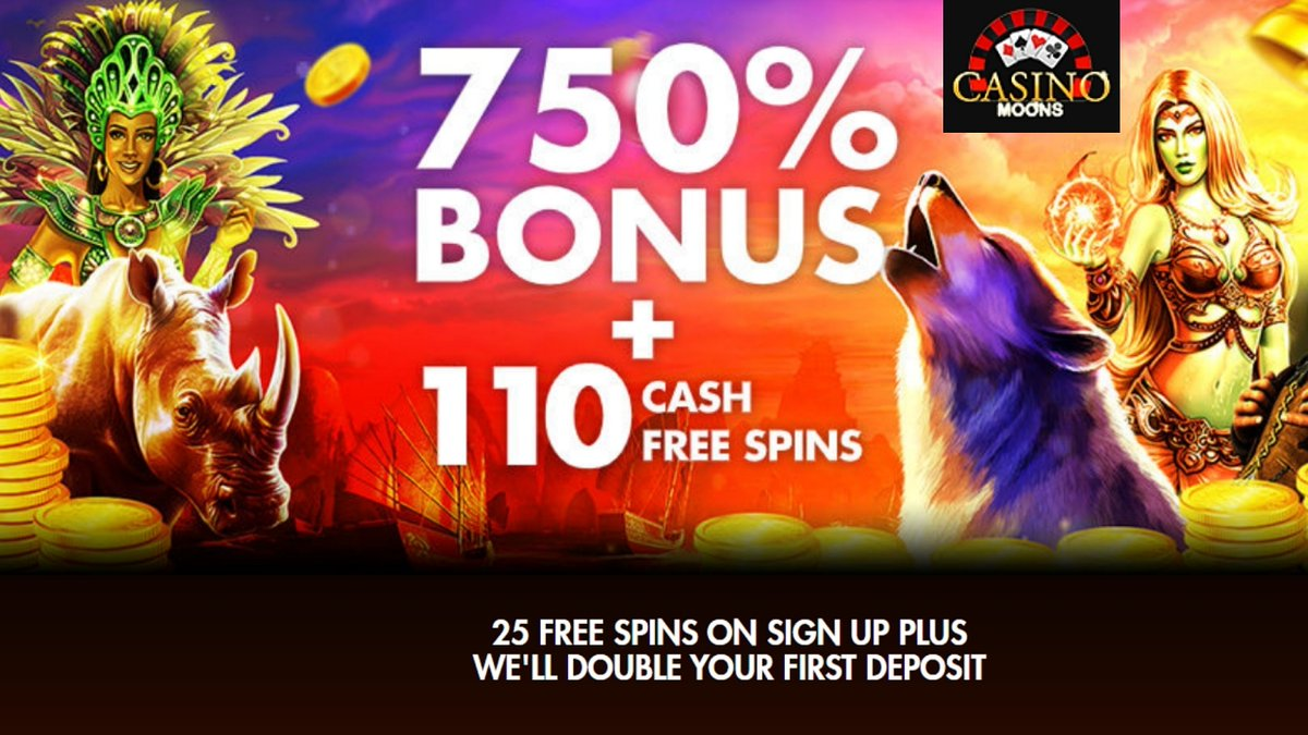 Casino Moons welcome bonuses: 25 free spins, 750% and free spins welcome pack https://t.co/KR5f6dpWc3 #casino #match #slots #tournament #freespins #bonus #CouponCode #casinobonus #casinoMoons #CasinoAustralia https://t.co/s55vujfh2a