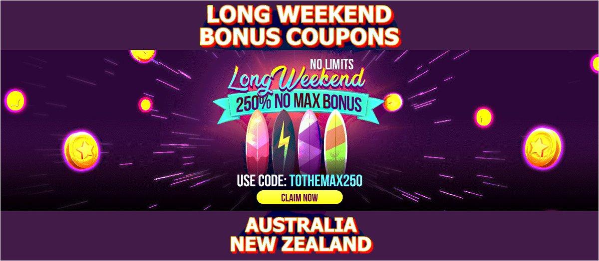 Weekend deposit bonuses Australia | Low-wagering bonuses and cashback https://t.co/q2VKEAvRJJ #casino #match #slots #freespins #bonus #CouponCode #casinobonus #weekend #CasinoAustralia https://t.co/QDfNzhhzwt