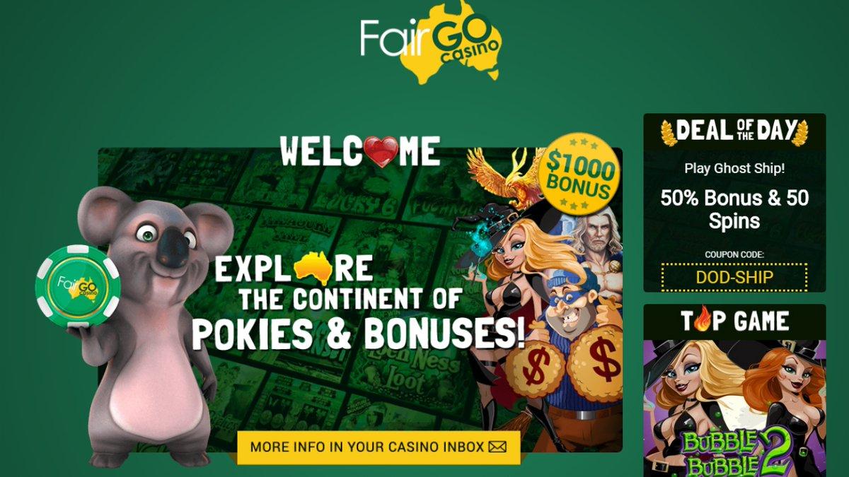 Latest Fair Go casino no deposit bonuses 2020. 30 free weekend spins https://t.co/EOMWPehn8d #casino #match #slots #freespins #bonus #CouponCode #casinobonus #casinoUSA #CasinoAustralia #FairGo https://t.co/j82qFyFCGI