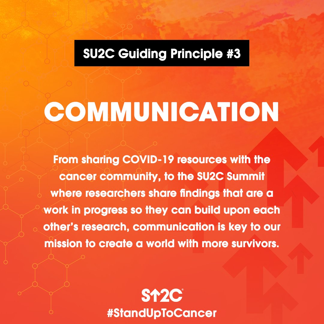 Communication is a key principle of #StandUpToCancer to help create a world with more long-term survivors. For #COVID19 resources for cancer patients, visit StandUpToCancer.org/COVID19. #CancerResearchMonth #NCRM20