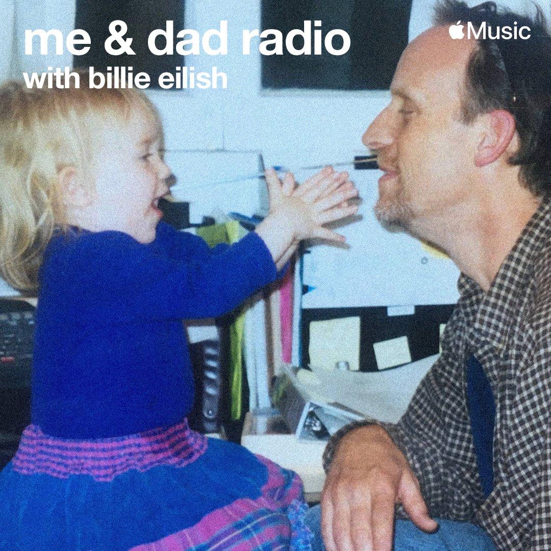 Billie Eilish - me & dad radio Listen today at 12pm PT on @applemusic @beats1: https://t.co/xSnC1qneV9 https://t.co/R1ixAbILEo