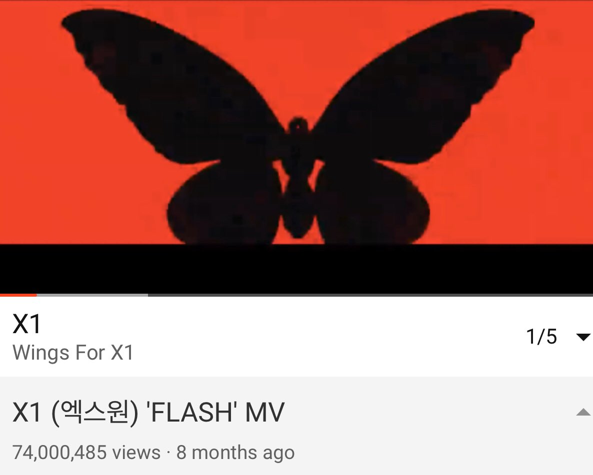 2020 / 05 / 23  1:10am  One Its never give up on #X1_Flash_Road_to_100M   74 Million times of Fly High X1   #OneIt_StillHere_ForX1  @x1official101  @x1members<br>http://pic.twitter.com/dAYRk5QE1Z