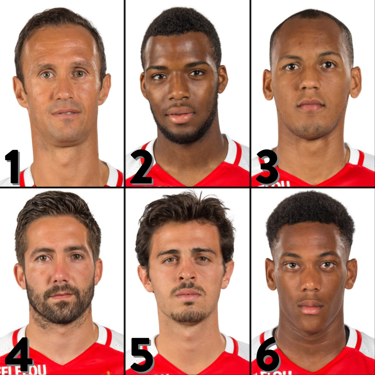 Favourite Monaco star from 2015/16❓  1⃣ Carvalho 2⃣ Lemar 3⃣ Fabinho 4⃣ Moutinho 5⃣ Bernardo Silva 6⃣ Martial  #UEL | @AS_Monaco https://t.co/8KiTew4c1p