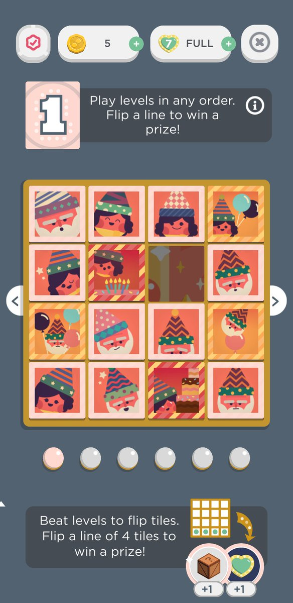WOOHOO new Flip Event from @TwoDots! Happy 6th Birthday to my favorite mobile game! Six boards, 40 days - lets gooooo!!