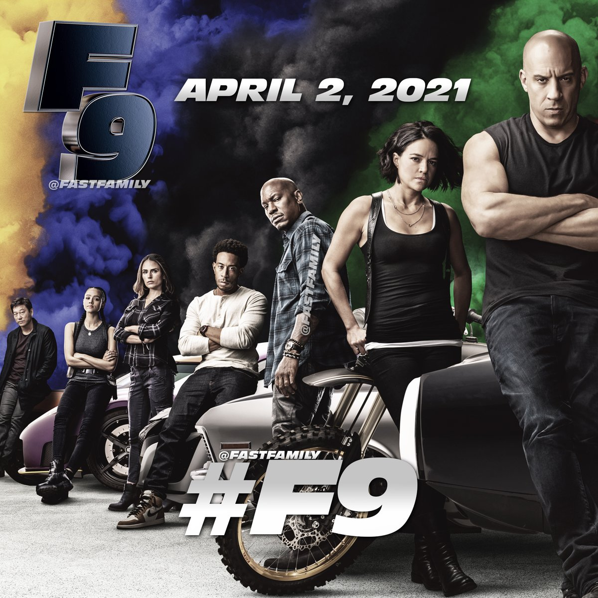 "Under normal circumstances, today, we would have had ""the most ambitious"" chapter in @TheFastSaga yet.  Now, we just need to be patient. Your favorite #FastFamily will return in #F9 when it opens on April 2, 2021. #FAST9 https://t.co/GIRjKZOBss"