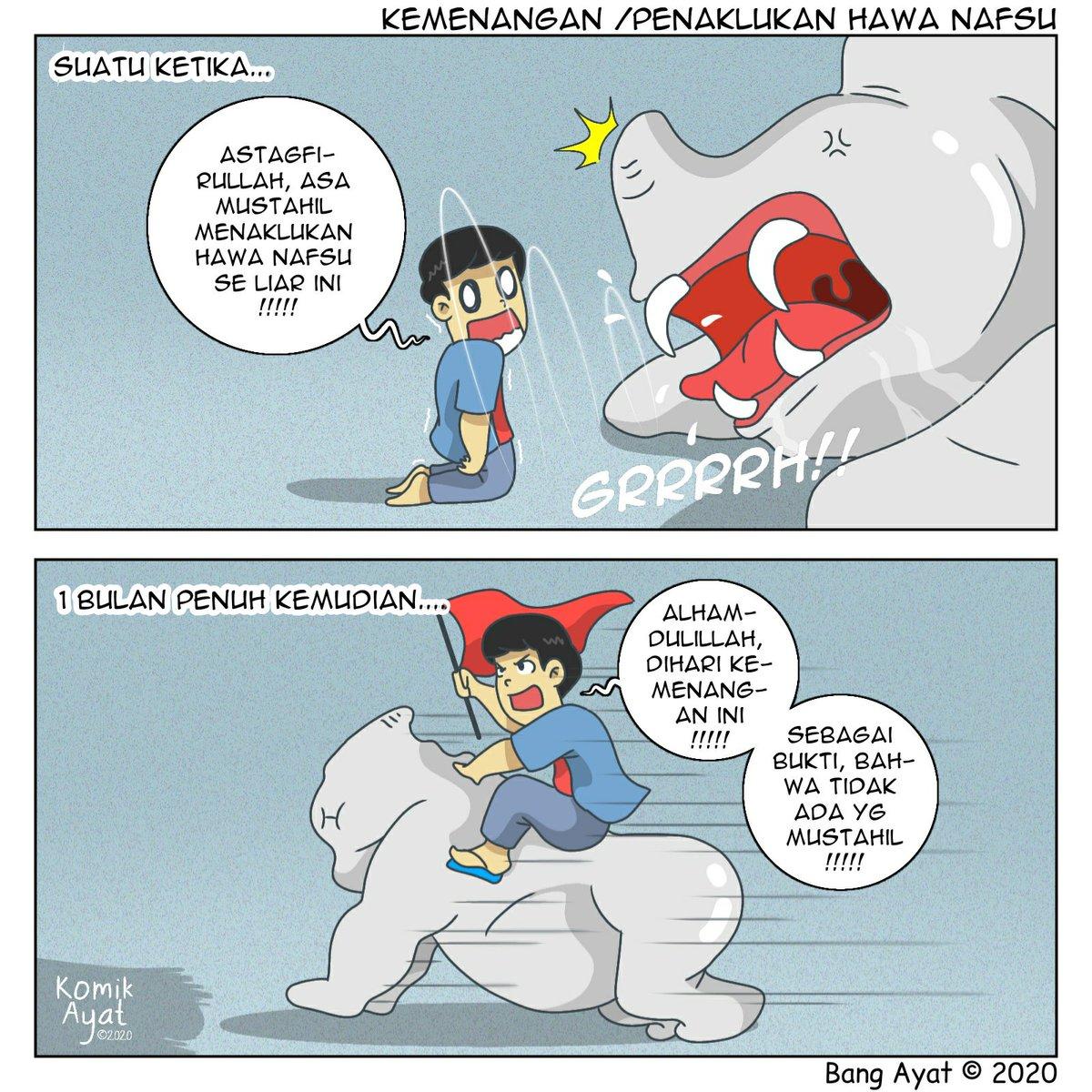 H+30 #sahurramadhan Tetapi perjuangan masih berlanjut guys!  Mohon maaf lahir dan batin  #komikayat #urangbanjar #komikstrip #iqomic #komikinajah #komiklokal #kisahvisualkeseharianpic.twitter.com/xCB6GusBxp