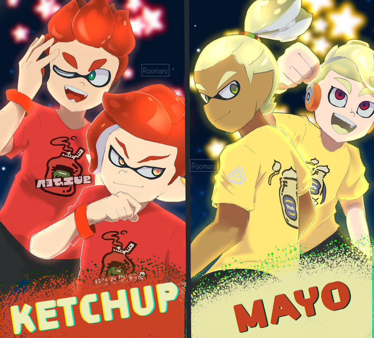 Mayernase or keptsup  Now with some of my favorite mango boys   #splatfest #splatoonmanga #splatoon<br>http://pic.twitter.com/Q9h8jhkduB