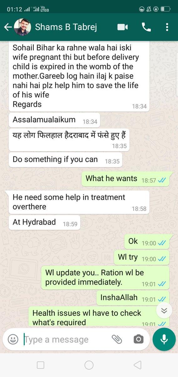 Thank U Br @asadowaisi sb @aimim_national President fr providing immediate assistance to medical emergency 2 woman frm Bihar in Hyd, through @MemberAIMIM @misahqadri sb @withAIMIM . Regards @Akhtaruliman5 @AlamTanweer @HPRCIndia @Md_MajidHussain @ahmedsarfaraazu @RiyazEffendi