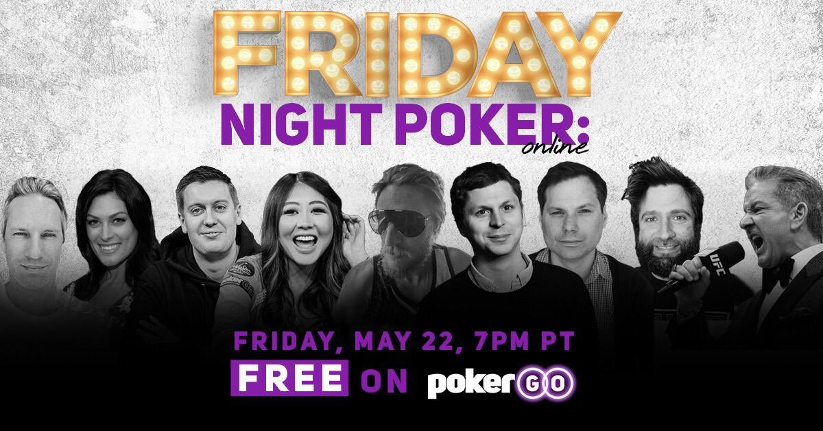 Oh hi. This should be fun. 📺: pokergo.com 7PM PT