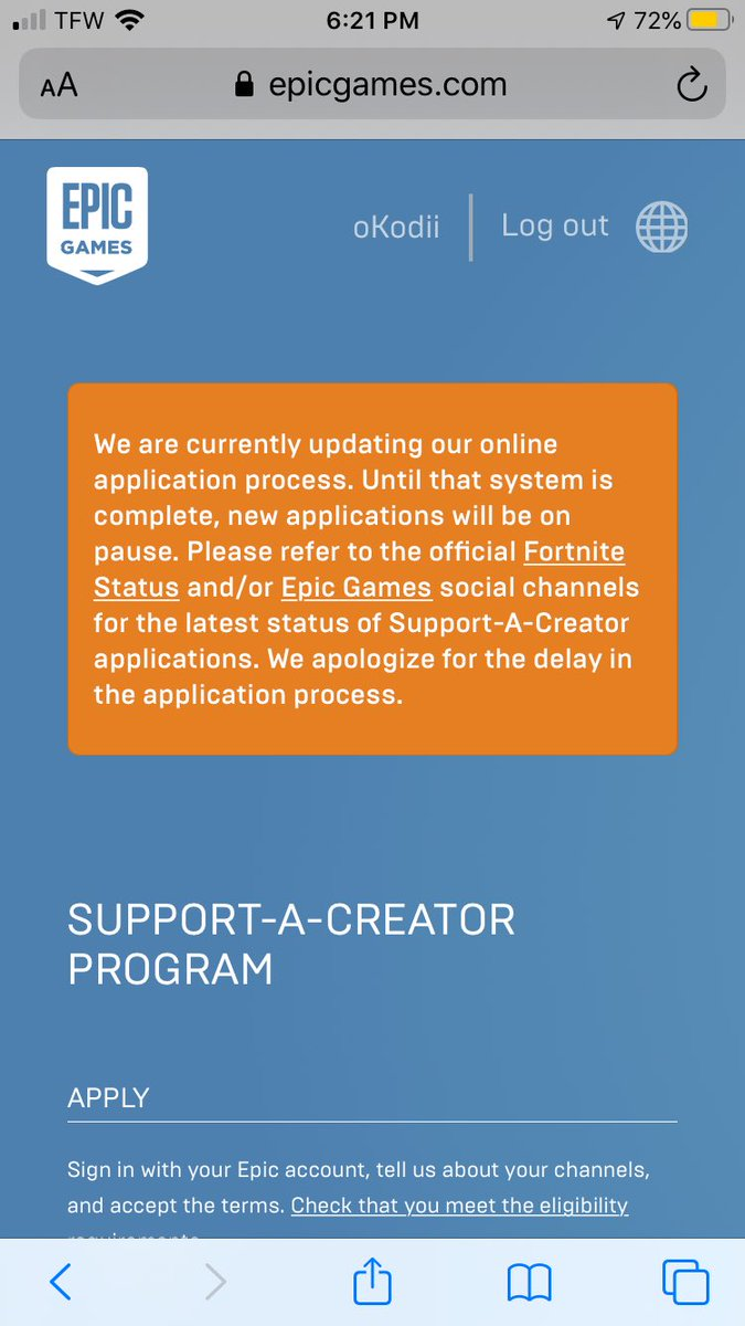 Anyone know when this will get fixed? @EpicGames #Fortnite #creatorcode #EpicGamesStore #epicgamespic.twitter.com/7dqOYnBfll