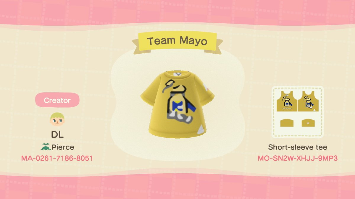 OK, so I have them both, so I'll consolidate them into one tweet. Choose your #Splatfest Tee in #AnimalCrossing !  #TeamMayo or #TeamKetchup?<br>http://pic.twitter.com/KEIRLhBjuY
