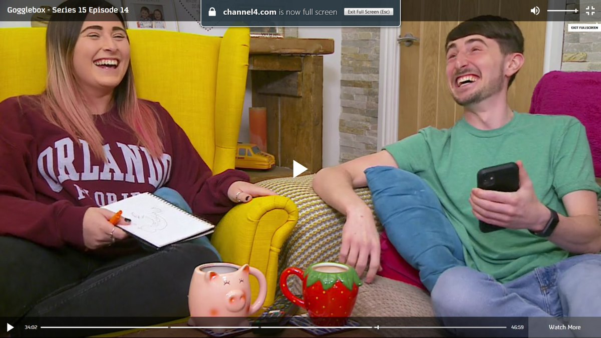 Obligatory Sophie & Pete #GoggleboxersReact after finding um...'that' doodle in the notepad :) #Gogglebox