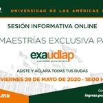 Image for the Tweet beginning: ¡#exaUDLAP continúa tu formación académica!