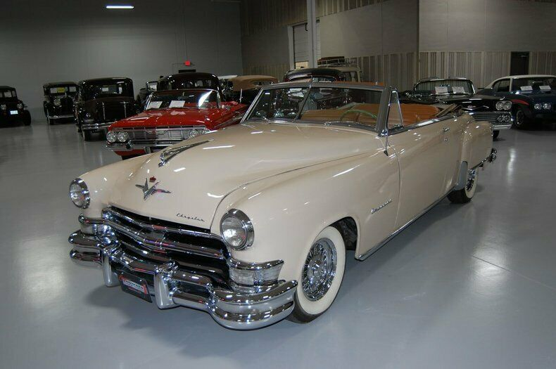 1951 #Chrysler #Imperial #Convertible; 331 cid ohv #Hemi V-8; 2 bbl, 180 hp; Fluid Torque Drive; First post-war Imperial convertible and first Hemi engine. Note top of the line Imperial carried considerably less external chrome decoration than the #NewYorker on which it was based pic.twitter.com/ztvHO6c03Y