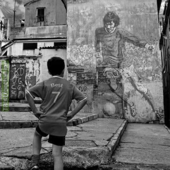 Maradona good, Pele better, GEORGE BEST Happy Birthday Belfast Boy