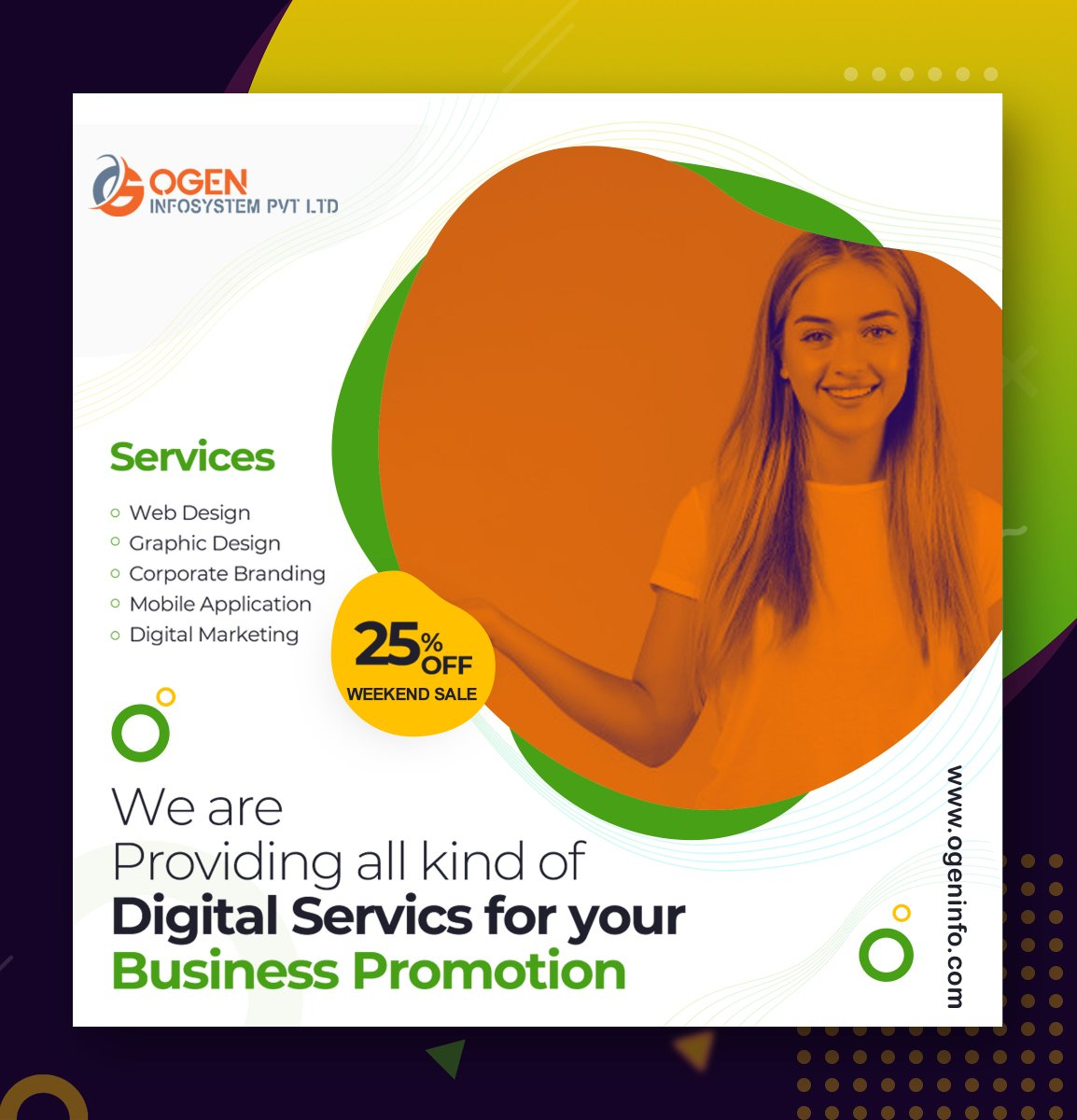 👉 Weekend Special - 25% OFF on all our Digital Services valid Till 24th Mid Night. Get your Business Fly High with Digital Parachute.  Call Now : +91 9654939970 https://t.co/wFnSEM4lP8 info@ogeninfo.com  #smoservices #digitalmarketing #websitedesign  #marketing #leadgeneration https://t.co/eW6avq1OjA