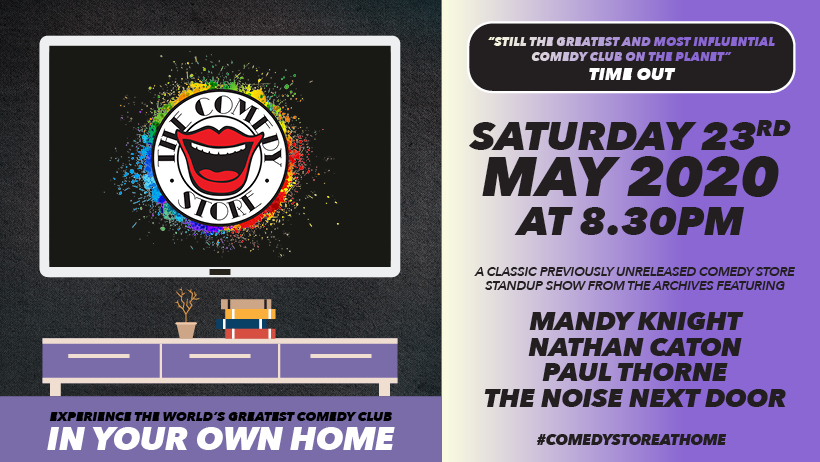 #ICYMI Spend this Saturday night in stitches with @themandyknight, @NathanCaton, @pthornecomedian & @NoiseNextDoor for #COMEDYSTOREATHOME. Book your tickets now >>  #comedy @comedystoreuk