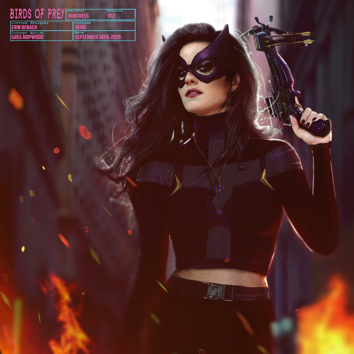 Birds Of Prey Concept Art Reveals A Comic Accurate Take On Mary Elizabeth Winstead S Huntress