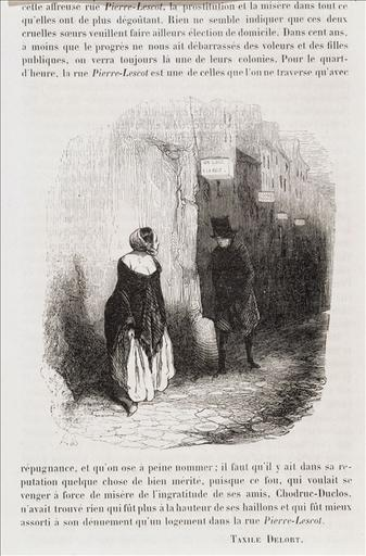 Rue Pierre Lescot, The Streets of Paris under Louis Lurin, 1844 #frenchart #honoredaumier <br>http://pic.twitter.com/LBLnlyuobX