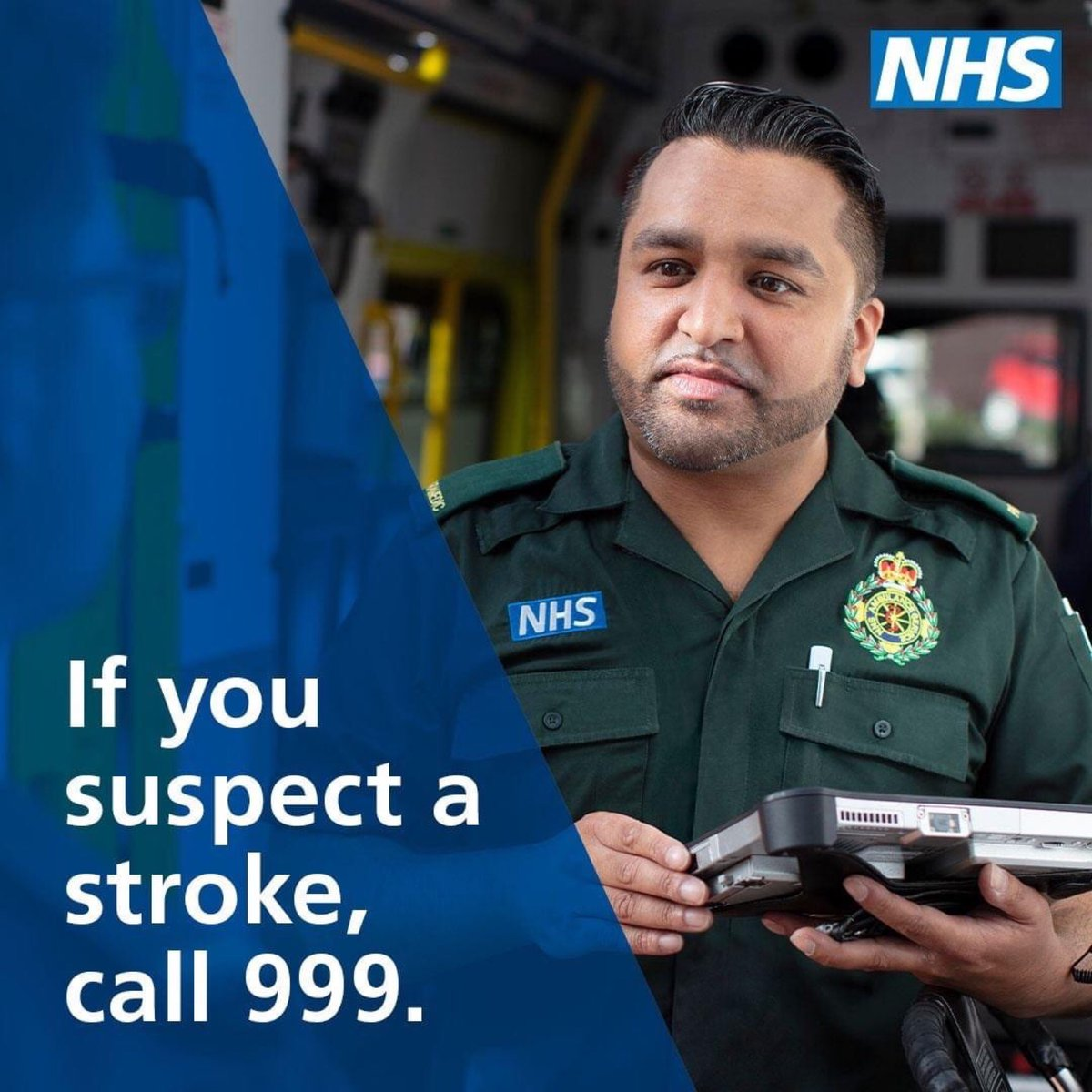 💙 | If you think you or a family member is suffering the symptoms of a stroke, you should dial 999 immediately. The main signs of stroke can be remembered with the word FAST. 😕 Face 🙆🏻 Arms 🗣️ Speech 🕐 Time More ➡️ orlo.uk/xWMxk #HUHYNW #Stroke