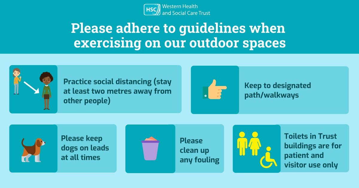 We recognise that members of the public on occasion use our outdoor spaces to enjoy exercise and dog walking ⁣ Many of our facilities have patients and long-term residents living in those areas. To ensure their safety and the safety of our staff, please adhere to the following: