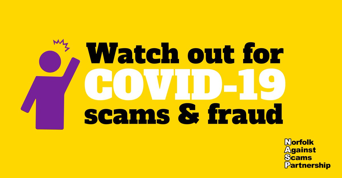 Be aware of people offering miracle cures, vaccines & virus testing kits for #coronavirus. There is currently no specific treatment. If you think you have been scammed, contact your bank first then call the @CAB_Norfolk helpline: ☎️ 03444 111 444 #NorfolkScamAware