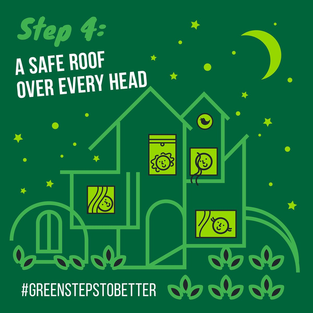 Coronavirus has shaken our world, @CarolineLucas has made a plan for #greenstepstobetter 💚🌍 Step 4: A SAFE HOME FOR EVERYONE: safe and affordable housing for all