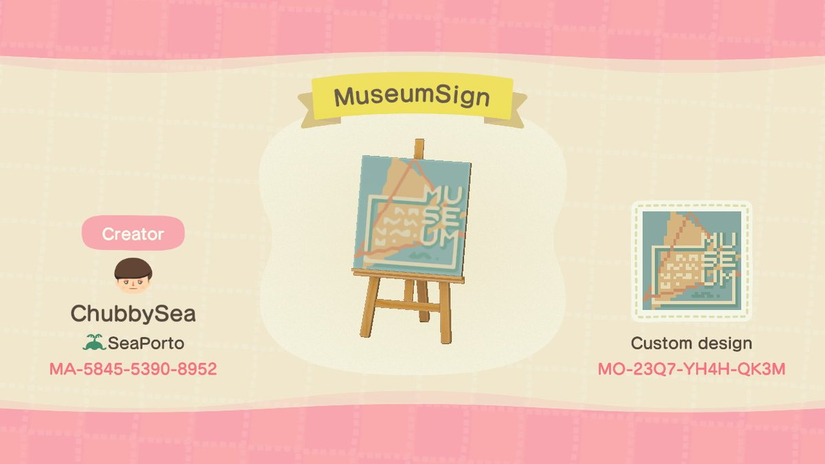 Museum sign and bookstore sign Will do more similar ones in the future Feel free to drop me ideas #ACNH  #AnimalCrossingDesigns <br>http://pic.twitter.com/WMN7hSW4Y0