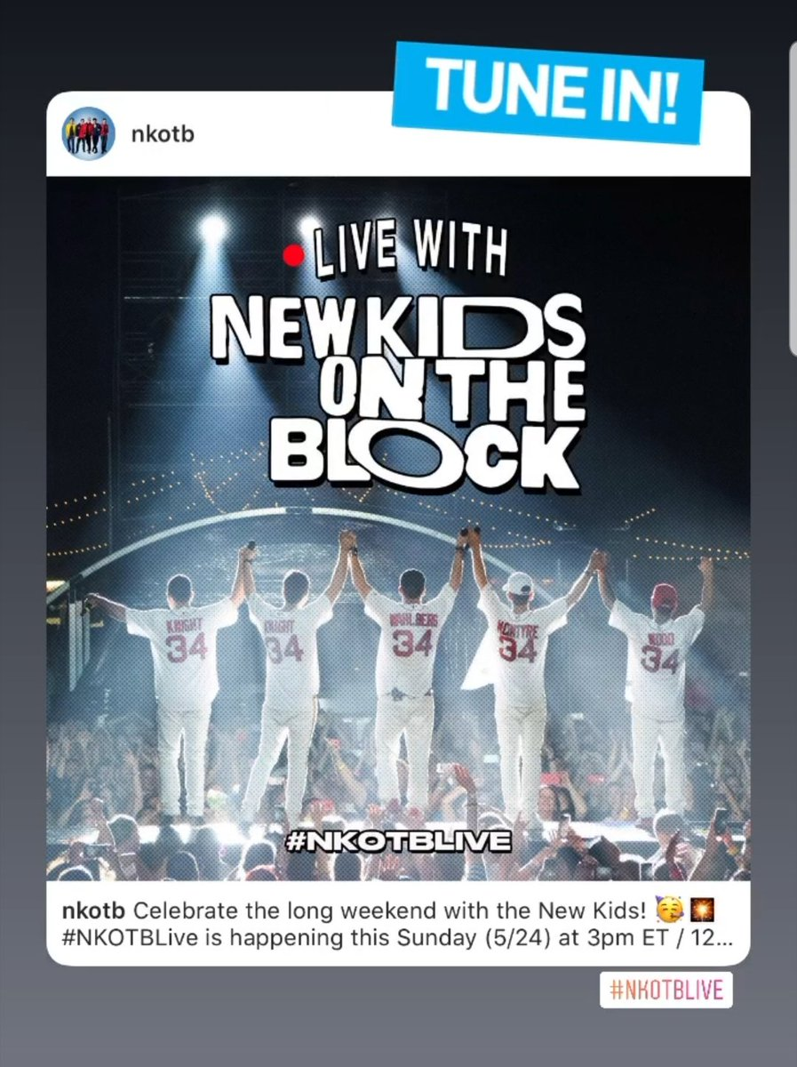 Stay tuned!! #NKOTBLive Sunday!!!pic.twitter.com/OA1uGeDBbr
