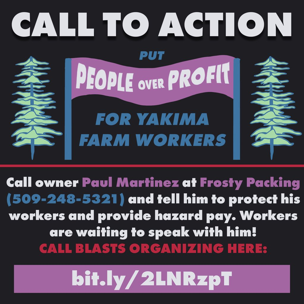 support yakima farm and factory workers who are on strike!