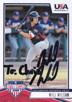 Success with USA Baseball and Los Angeles Angel's 1st round pick Will Wilson.  #willwilson #angels #usabaseball #ttm #ttmsuccess #ttmautograph #ttmautographs @autographblog