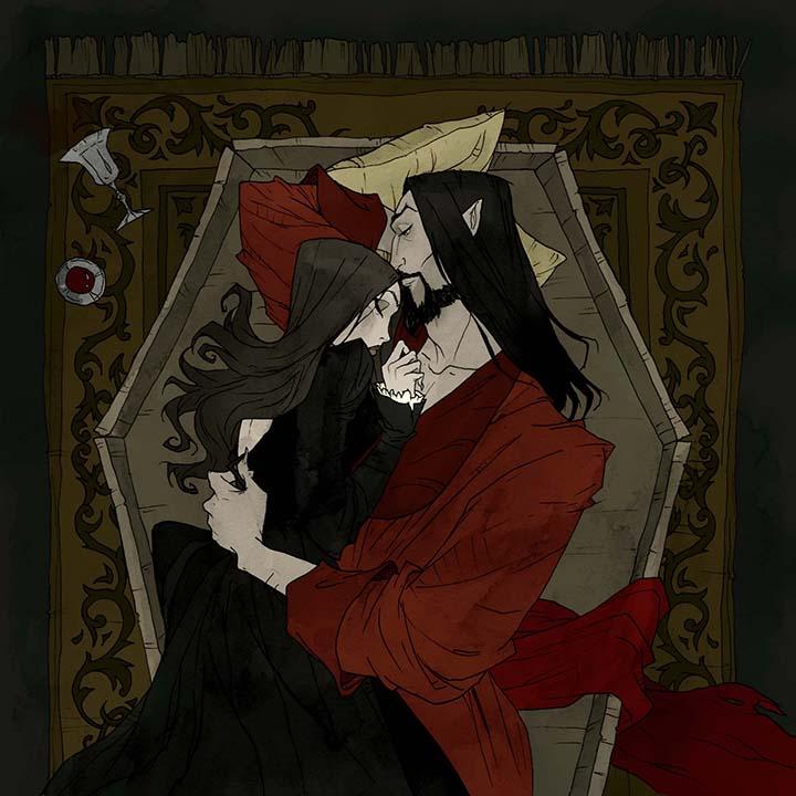 RT @Abigail_Larson: It's #WorldGothDay! Here's some of my Dracula-inspired art 🩸 https://t.co/7iUpXiWjZc