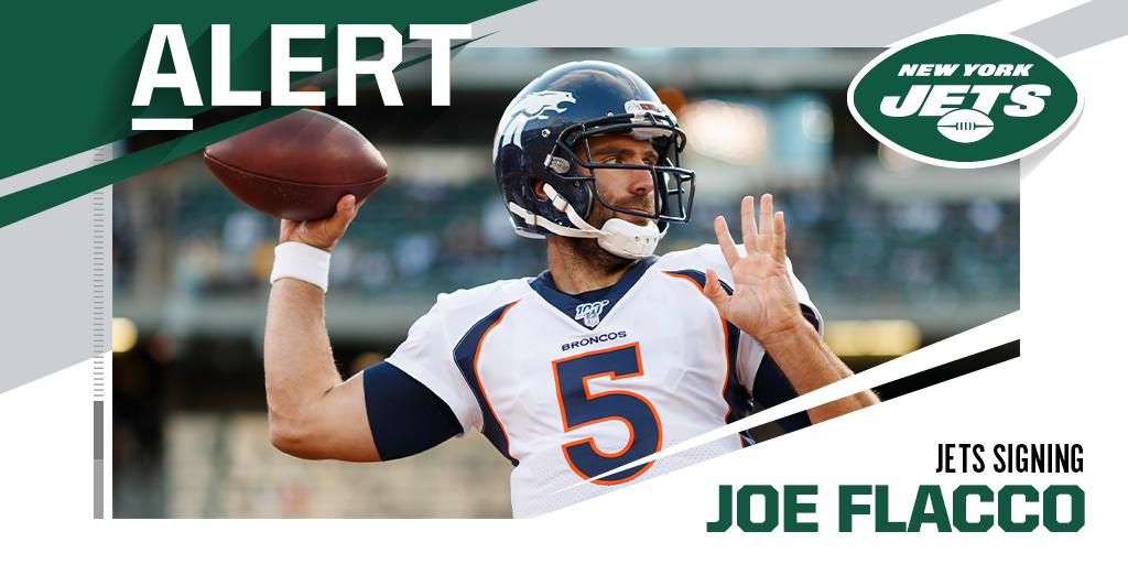 QB Joe Flacco, Jets agree to one-year deal. (via @MikeGarafolo) https://t.co/yUOEjfJoZI