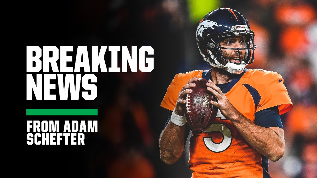 Breaking: The New York Jets are signing former Super Bowl MVP Joe Flacco to a one-year deal, sources tell @AdamSchefter.<br>http://pic.twitter.com/M5kULy4CZb