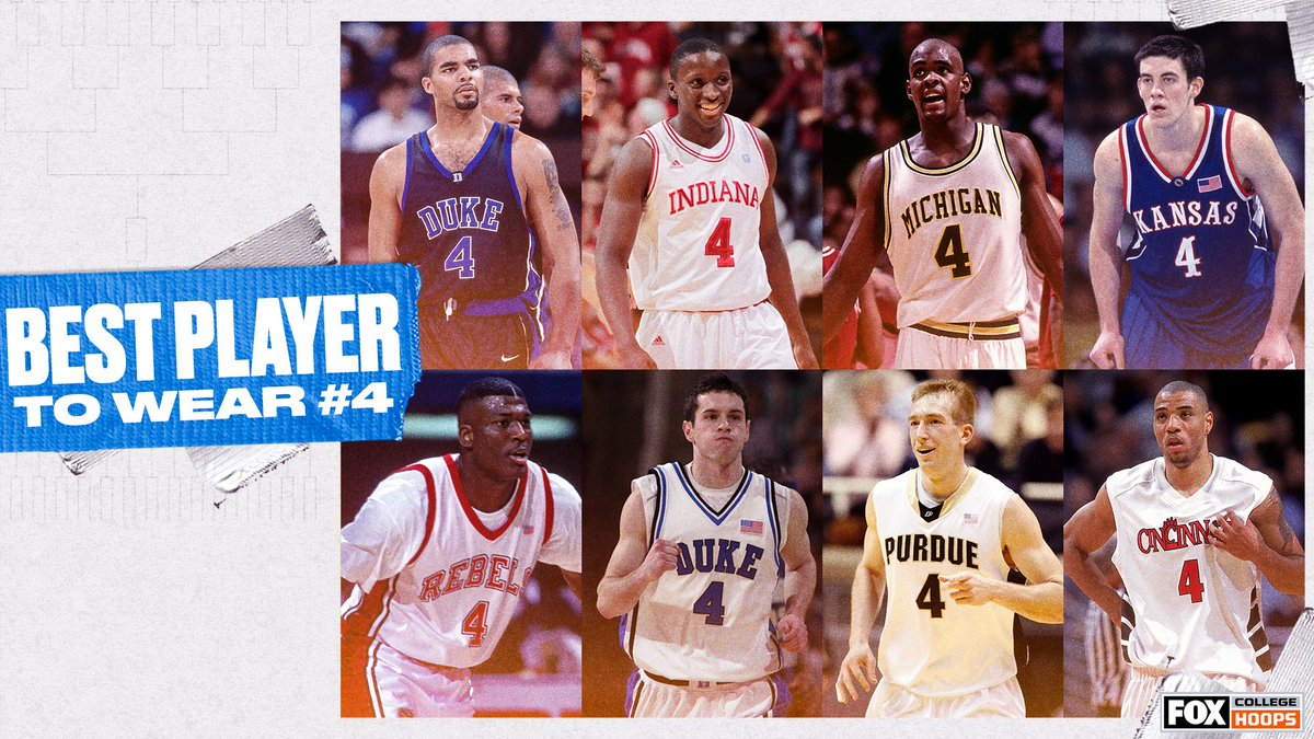 Who is the best college basketball player to rock the No. 4 jersey? 🤔 https://t.co/JVOUeFythx